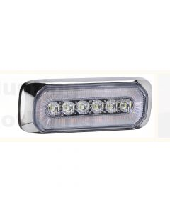 Narva 85220-CB Halo LED Warning Light - Chrome Bezel
