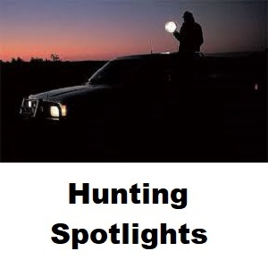 Powa Beam 245mm Hand Held 100W Halogen Hunting Spotlight